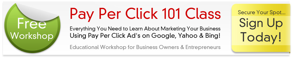 Pay Per Click (PPC) 101 Live Workshop : for Business Owners. Brought to you by Market My Biz Online and Jane Dueease